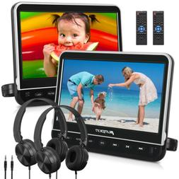 """10.1"""" Dual Car DVD Players with 2 Headphones 1080P Video HDM"""