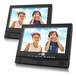 "10.1"" Dual Screen Portable DVD Player with Car Headrest Mo"
