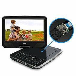 """SYNAGY 10.1"""" Portable DVD Player CD with Swivel Screen Remot"""