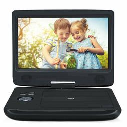 "10.1"" TFT Portable Car DVD Player 270° Swivel Screen USB"