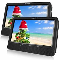 WONNIE 10.5'' Dual Portable DVD Player for Car Built-in 5 Ho