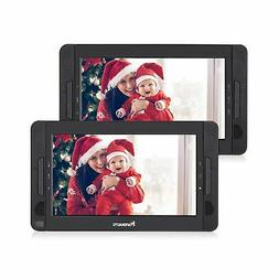"NAVISKAUTO 10"" Dual Screen Portable DVD Player Headrest Vide"