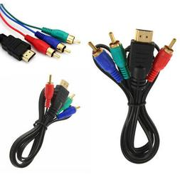 100CM HDMI to 3 RCA RGB Male AV Video Audio Adapter Cable Fo