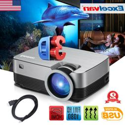 1080P LED Projector Multimedia Video Player Player 3600Lumen