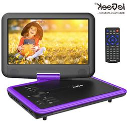 ieGeek 11.5 inch Portable DVD Player Swivel TV Radio Game SD
