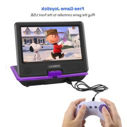 """COOAU 11.5"""" Portable DVD CD Player 9.5"""" Swivel screen with J"""