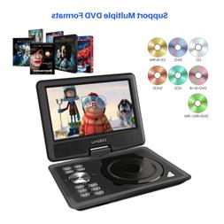 "COOAU 11.5"" Portable DVD Player Swivel Screen,with Car Charg"