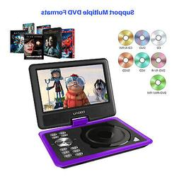 "COOAU 11.5"" Portable DVD Player Swivel Screen with Game Joys"