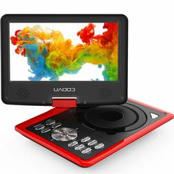 """COOAU 11.5"""" Portable DVD Player with Swivel Screen, 5 Hour R"""