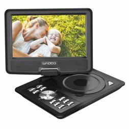 """COOAU 11.5"""" Portable DVD Player with Swivel Screen,Black,Rec"""