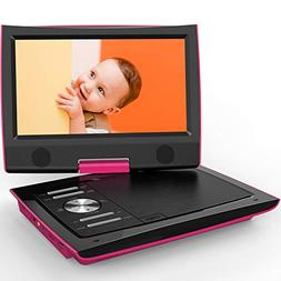 """ieGeek 11"""" Portable DVD Player with Dual Earphone Jack, 36"""