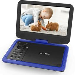 "COOAU 12"" Portable DVD Player High-Brightness Swivel Screen,"