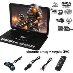 "13.9"" HD TV Portable 16:9 DVD Player Swivel LCD 270° Screen"