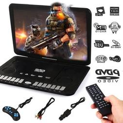 "13.9"" Portable 16:9 DVD Player 270° Swivel LCD Screen HD TV"