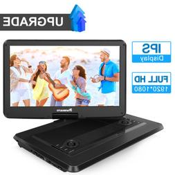 "15.6"" IPS Large Screen Portable DVD Player 1920×1080 LCD Re"