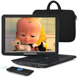 "15.6"" Large HD Portable DVD Player Swivel Screen Region Free"