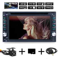 "2 DIN 6.2"" Car Stereo DVD CD Player GPS Navigation Radio BT"