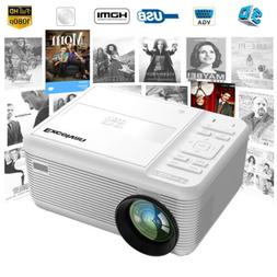 2 In 1 DVD Player LED Multimedia Projector With Disk HDMI US