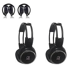 Car Headphone,XINDA 2 Packs Double Channel Wireless Infrared