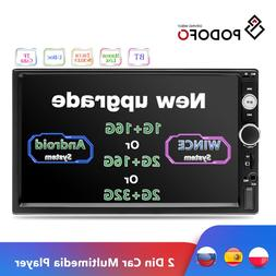 Podofo 2Din Android Car Radio Multimedia <font><b>Player</b>