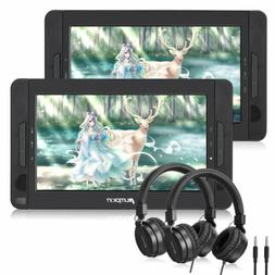 2x 10.1'' Car Headrest Monitor DVD Player USB/SD/ TFT LCD To