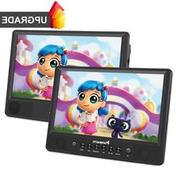"2X10.1"" Car Headrest DVD Player LCD Monitor HD Display USB/S"
