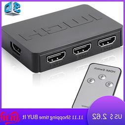 Tonbux 3x1 <font><b>1080p</b></font> HD HDMI Splitter 3 Port