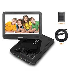 "5 hours 10.5"" Portable DVD Player, Build-in Rechargeable Bat"