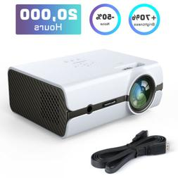 5000LMs DVD Player LED Multimedia Projector Home Cinema Disk