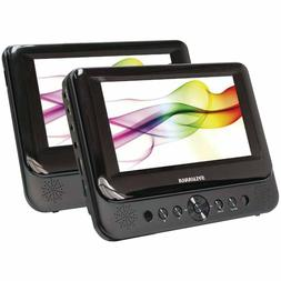 """NEW 7"""" Dual Color Screens DVD CD MP3 Player Remote Headrest"""