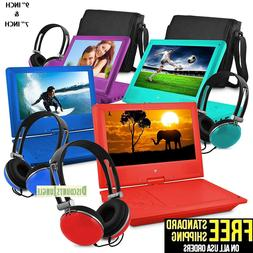 """7""""&9'' Portable Personal DVD Player w/Headphones Kids Adult"""