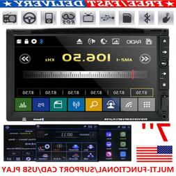 """7"""" Double 2 Din Car DVD Player Radio Stereo MP3 AUX USB BT S"""