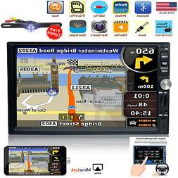 """7""""Double 2DIN Car Stereo Radio Multimedia Player Bluetooth G"""
