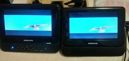 "Sylvania 7"" Dual Screen Car DVD Player Headrest & Mounting S"