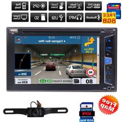 """7"""" HD Touch Screen Double 2 DIN Car Stereo DVD CD Player Blu"""