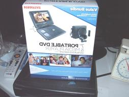 "Sylvania 7"" Portable DVD and MEDIA Player, Black, New In Box"