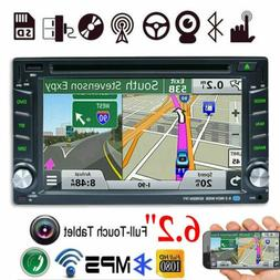 GPS Navigation HD Double 2 DIN Car Stereo DVD Player Bluetoo