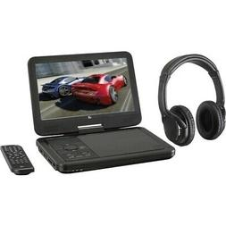 "GPX PDB1077B 10.1"" Portable DVD Player w/ Bluetooth Headphon"
