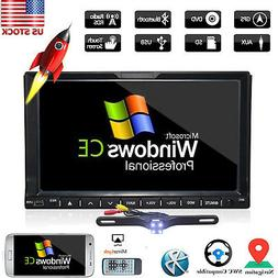 """HD 7"""" Double 2 Din Car Stereo Radio DVD Player In Dash GPS N"""
