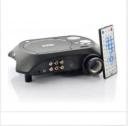 LED Multimedia Projector with DVD Movie Player 480x320 60 Lu