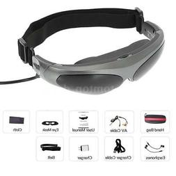 """NEW 80""""LCD Wide Screen Video Player Glasses Stereo Mobile Th"""