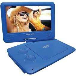 "NEW SYLVANIA SDVD9020B BLUE 9"" PORTABLE DVD PLAYER WITH ALL"