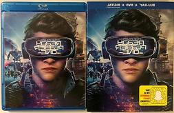 READY PLAYER ONE BLU RAY + DVD 2 DISC SET & SLIPCOVER SLEEVE