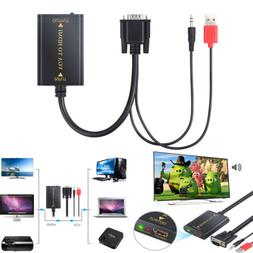 VGA 2CH Audio to HDMI DH Output Converter Adapter Cable For