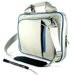 blue gray creamy carrying case