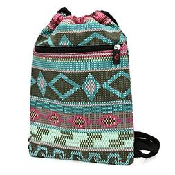 Bohemian Backpack Drawstring Bag Tote Case for 7 - 9 inch Sc