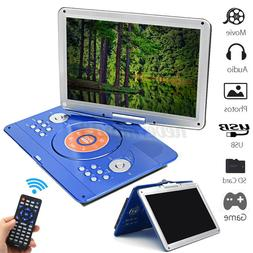 Car 16'' DVD Player Rechargeable Portable 16:9 LCD Swivel Sc
