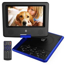 DB DBPOWER 7.5-INCH PORTABLE DVD PLAYER WITH RECHARGEABLE BA