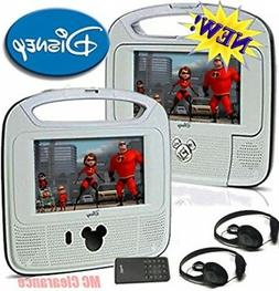 "Disney 7""inch Dual Screen Widescreen LCD Mobile DVD Player D"