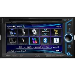 JVC Double-Din In-Dash BLUETOOTH DVD Receiver with Large 6.1